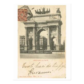 Vintages Italien, ACRO della Schritt, Mailand Postkarte