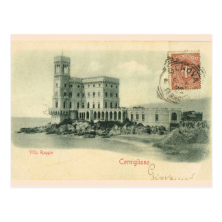 Vintages Italien, Cornigliano, Landhaus Raggio, Postkarte