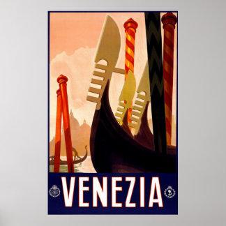 "Vintages italienisches Reise-Plakat ""Venedigs"" Poster"