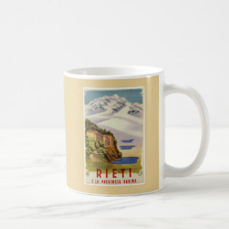 Vintages italienisches Reiseplakat Rietis Sabina Kaffeetasse