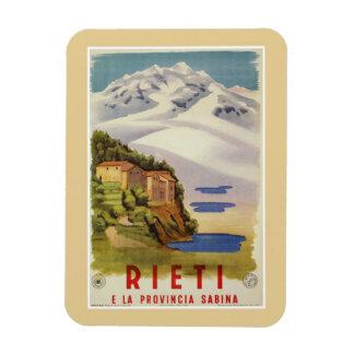 Vintages italienisches Reiseplakat Rietis Sabina Magnet