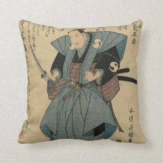 Vintages japanisches Bild des Schauspielers in der Kissen