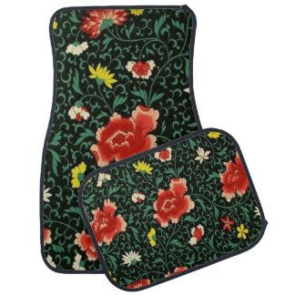 Vintages japanisches Muster-mit BlumenSet von 4 Autofußmatte