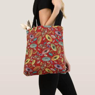 Vintages japanisches Regenschirm-Muster Tasche