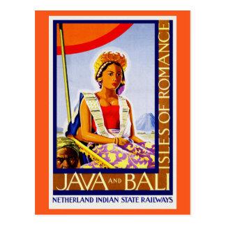 Vintages Java und Bali Indonesien durch Postkarte