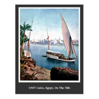 Vintages Kairo 1900 Ägypten auf dem Nil Postkarte