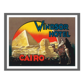 Vintages Kairo Ägypten Postkarte
