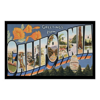Vintages Kalifornien-Reise-Plakat