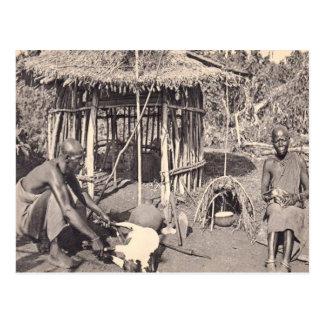 Vintages Kenia, Kolonie Kalamando Postkarte