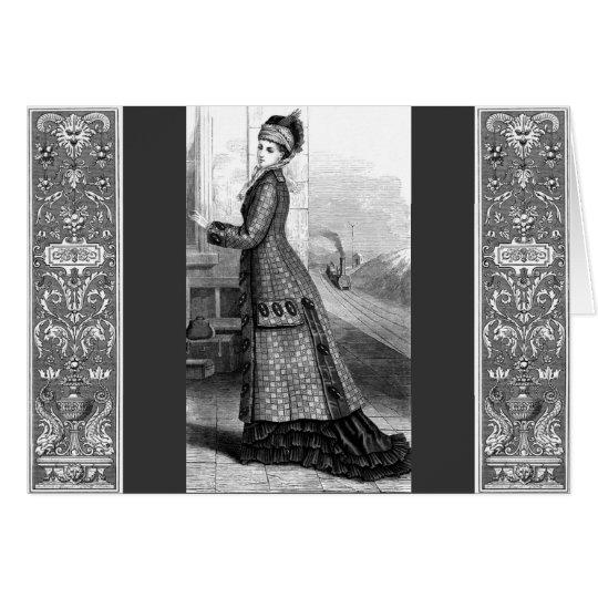 Vintages Kleid Grußkarte
