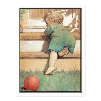 Vintages Kleinkind und Ball durch Jessie Willcox Postkarte