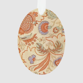 Vintages korallenrotes Muster Blumenpaisley Ornament
