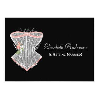 Vintages Korsett-persönliches Wäsche-Brautparty Karte