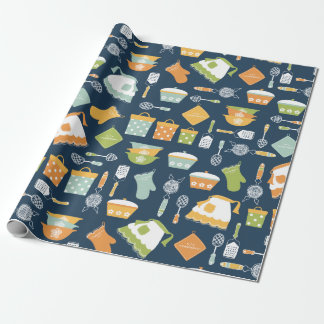Vintages Küchen-Geschirr-Verpackungs-Papier Geschenkpapier