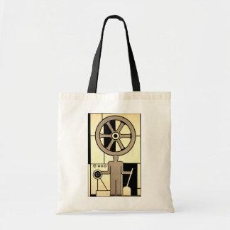 Vintages Kunst-Deko-Geschäfts-Rad und Tragetasche