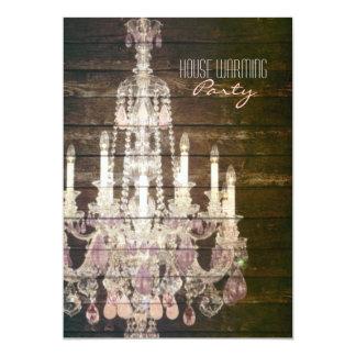 Vintages lila Leuchter Housewarming-Party 12,7 X 17,8 Cm Einladungskarte