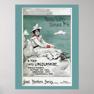 Vintages Lincolnshire, Großbritannien, Poster