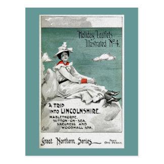 Vintages Lincolnshire, Großbritannien, Postkarte