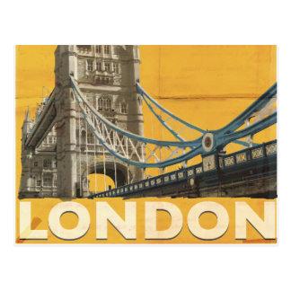 Vintages London-Plakat Postkarte