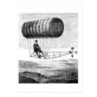 Vintages Luftschiff-/Ballon-Zellen-lenkbares Postkarte