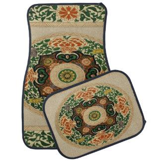 Vintages Mandala-Blumenblatt-Set von 4 Auto-Matten Automatte