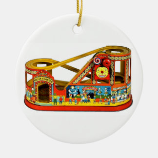 Vintages mechanisches Spielzeug Keramik Ornament
