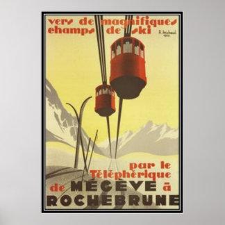 Vintages Mégève, Rhône-Alpes, Frankreich - Poster