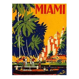 Vintages Miami, Florida, USA - Postkarte