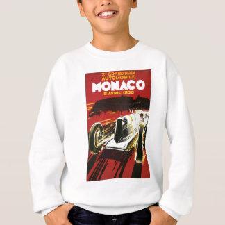 Vintages Monaco-Auto-Straßen-Rennen-Plakat Sweatshirt
