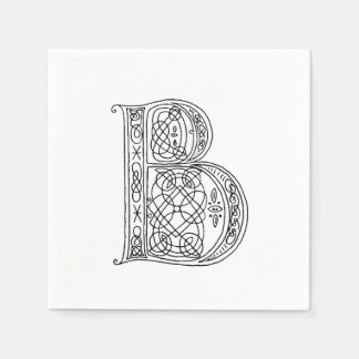 Vintages Monogramm der Buchstabe B Papierserviette