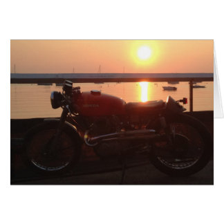 Vintages Motorrad-endloser Sommer Karte