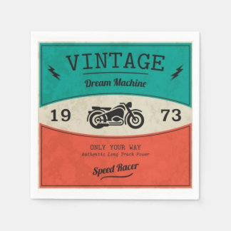 Vintages Motorrad-Papierserviette Serviette