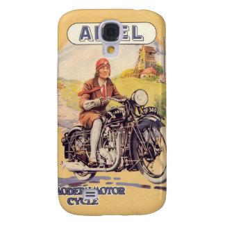 Vintages Motorrad-Plakat Galaxy S4 Hülle