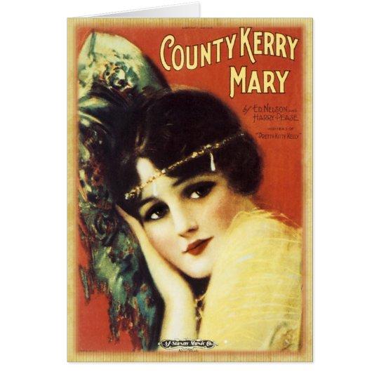 Vintages Musik-Blatt - Land Kerry Grußkarte