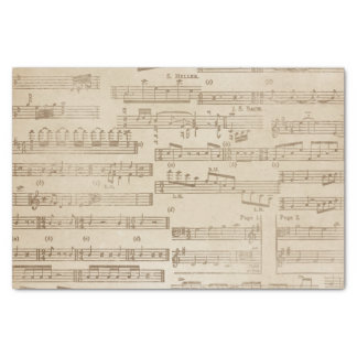 Vintages Musik-Blatt Seidenpapier
