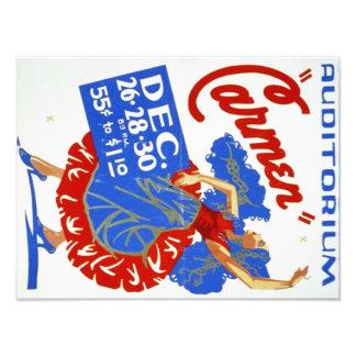 "Vintages musikalisches Theater-""Carmen"" WPA Plakat Fotodruck"