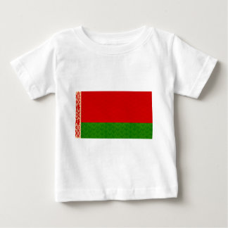 Vintages Muster-belarussische Flagge Baby T-shirt