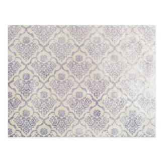 Vintages Muster - Bild 11 (violett u. weiß) Postkarte