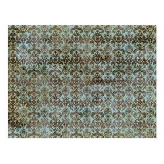 Vintages Muster - Bild 9 (Braun u. Blau) Postkarte