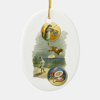 Vintages Mutter-Gans-Kinderzimmer-Reim-Gedicht Keramik Ornament