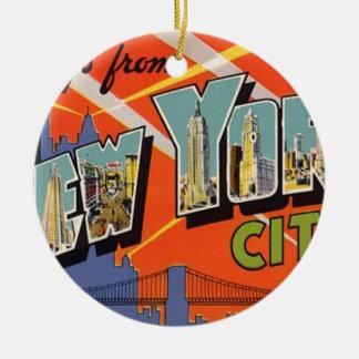 Vintages New York City Keramik Ornament