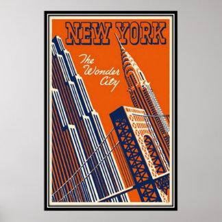 Vintages New York City, USA - Posterdrucke