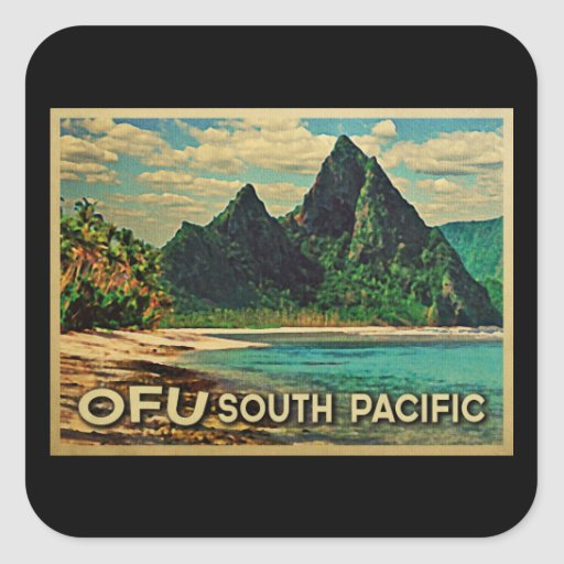 Vintages Ofu South Pacific Stickers