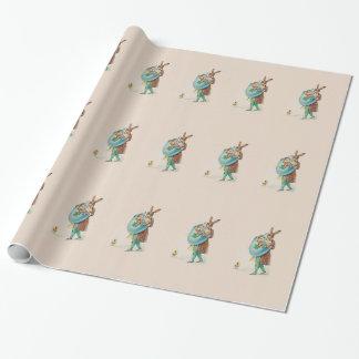 Vintages Osterhasen-Verpackungs-Papier Geschenkpapier