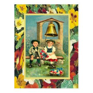 Vintages Ostern bayerische Kinder und Eier Postkarten