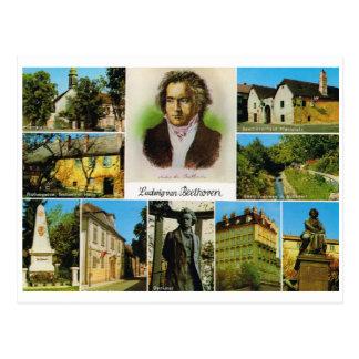 Vintages Österreich, Plätze verband mit Beethoven Postkarte