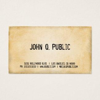 Vintages Papier Visitenkarte