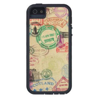 Vintages Pass-Briefmarken iPhone starker iPhone 5 Etuis