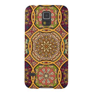 Vintages Patchwork mit Blumenmandalaelementen Galaxy S5 Cover
