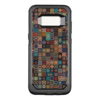 Vintages Patchwork mit Blumenmandalaelementen OtterBox Commuter Samsung Galaxy S8 Hülle